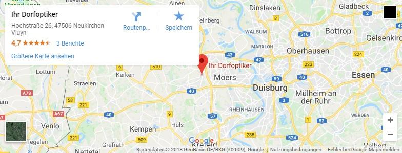 Google Maps Karte für Ihre Dorfoptiker
